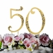 """50th Anniversary or Birthday Crystal Accented Cake Top """"Sparkle """""""