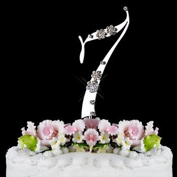 7th Birthday or Anniversary Wedding Cake Topper