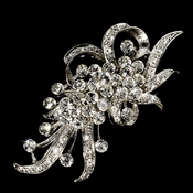 Antique Silver and Rhinestone Brooch 23