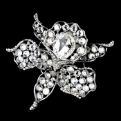 * Antique Silver Clear Rhinestone Brooch 82 ***9 Left***