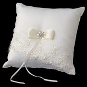 Beaded Lace Ring Pillow 767