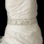 Beaded Sash Belt with Rhinestone, Bugle Bead & Sequin Accents