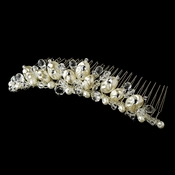 * Beautiful Pearl & Crystal Bridal Comb 7134 ***9 Left***