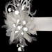 Belt with Couture Clear Crystals Feather Fascinator Clip 8105