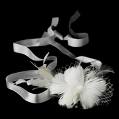 Belt with Feather Fascinator Cage Veil Clip 8985