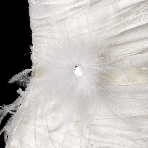 Belt with Jeweled Feather Fascinator Clip 440