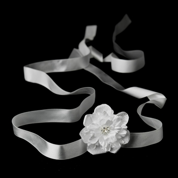 Belt with Jeweled Flower Clip 431