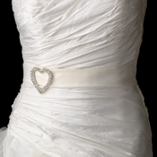 Belt with Silver Clear Romance Heart Brooch 30250