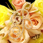 Bouquet Jewelry Single Crystal Letter