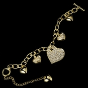 * Bracelet 1108 Gold Clear ***3 Left***