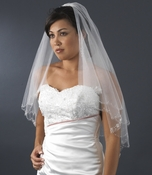 Bridal Wedding Double Layer Fingertip Length Veil 1436 F