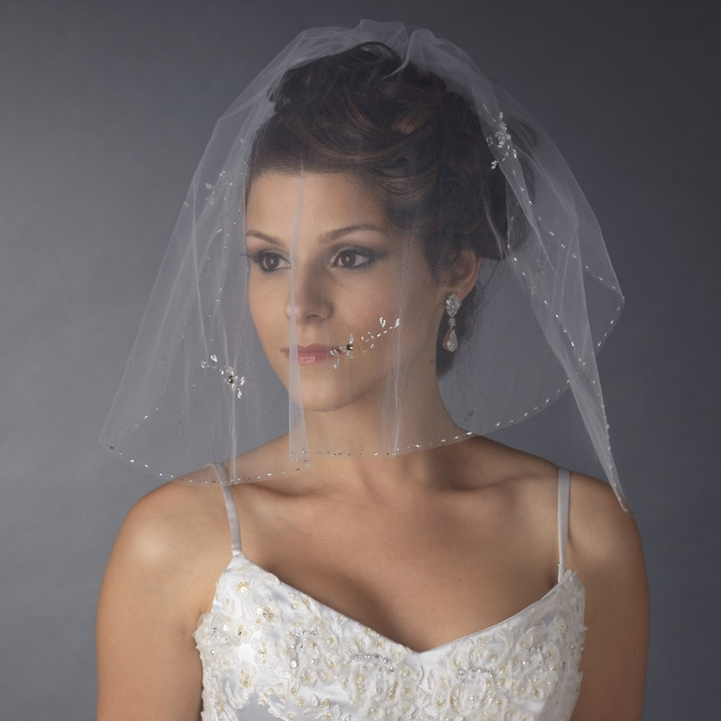 Bridal Wedding Double Layer Shoulder Length Veil 598
