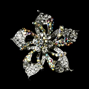 * Brooch 52 Silver Clear AB Flower