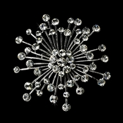 Brooch 55 Antique Silver Rhinestone