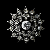 * Antique Silver Rhinestone Brooch 56