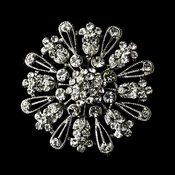 * Brooch 57 Antique Silver Clear