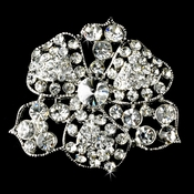 * Brooch 62 Antique Silver Clear