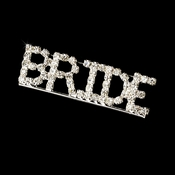 * Brooch 9005 Bride Silver with Rhinestones