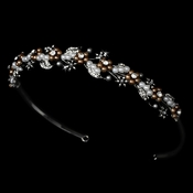 * Brown Classic Bridal Headband HP 6226