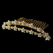 * Brushed Gold Plated Bridal Comb 3015