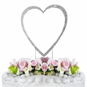 Completely Covered ~ Swarovski Crystal Wedding Cake Heart Toppers
