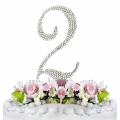 Completely Covered ~ Swarovski Crystal Wedding Cake Topper ~ Number 2
