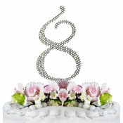 Completely Covered ~ Swarovski Crystal Wedding Cake Topper ~ Number 8