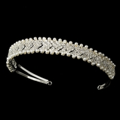 Crystal and Pearl Wedding Tiara Band HP 7111