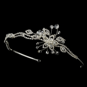 * Crystal Bridal Headband with Side Accent HP 8223