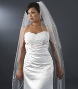 Double Layer Elbow & Cathedral Length Veil with Sparkling Accents 150