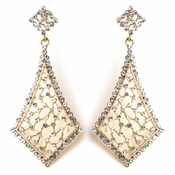 Vintage Gold Clear Earrings 9884
