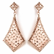 Vintage Rose Gold Earrings 9884