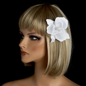 * Elegant Orchid Bridal Hair Clip 425 with Brooch Pin