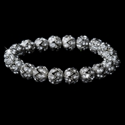 * Elegant Silver Clear Wedding Bracelet B 911 **1 left**