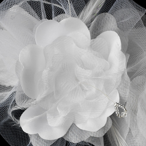 * Elegant White Flower Bridal Brooch 143