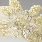 Fabric Accented Side Bridal Headbands