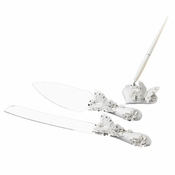 Floral Butterfly Matching Pen  & Cake Server Set