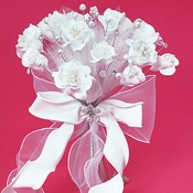 Floral Fabric & Crystal Bouquet BQ 243