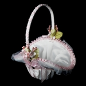 Flower Basket 4 White with Pink Accent