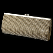 Gold Clear Crystals Both Sides Evening Bag 332