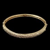 Gold Clear CZ Crystal Pave Bangle Bracelet 226