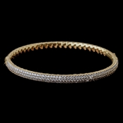 Gold Clear CZ Pave Bangle Bracelet 9950