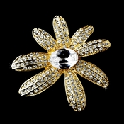 * Gold Clear Flower Brooch 95