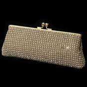 Gold Clear Rhinestone Evening Bag
