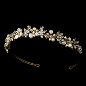 Gold Freshwater Pearl Bridal Headpiece HP 8147