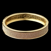 Gold Glitter Sparkle Bangle Bracelet 82002