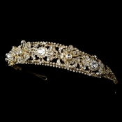 Gold Plated Bridal Headband HP 8273