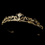 Gold Plated Pearl Bridal Tiara HP 102