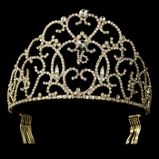 Gold Plated Sweet 16 Tiara HP 251