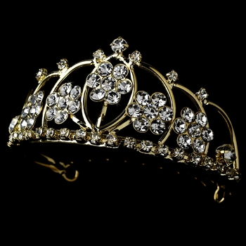 * Gold with Clear Crystals Child's Tiara HPC 400